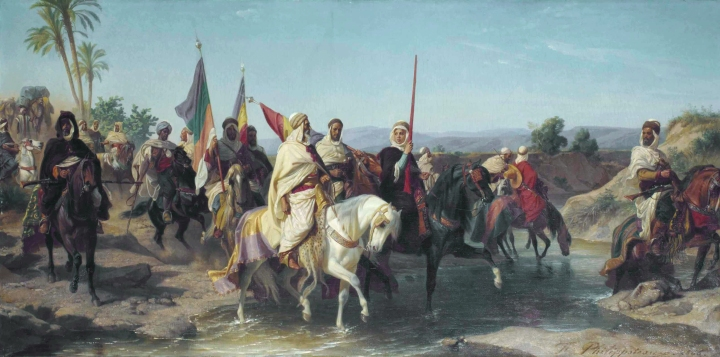 Chérif Boubaghla and the Lalla Fatma n'Soumer, by Félix Philippo